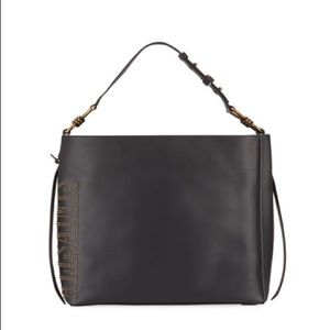 All Saints Nina North-South Leather Tote Bag